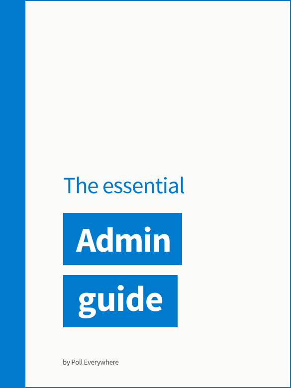 The essential Admin guide