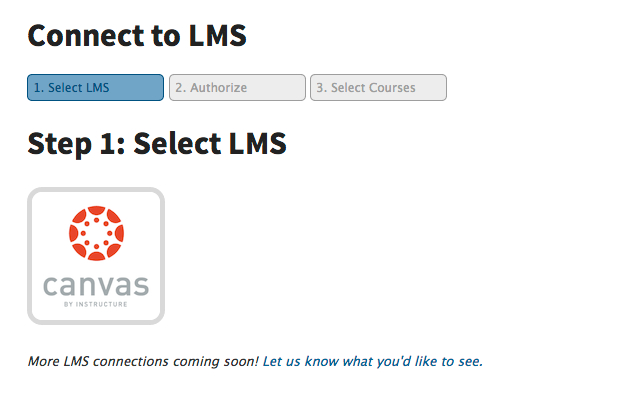 Connect directly to your LMS: step 3