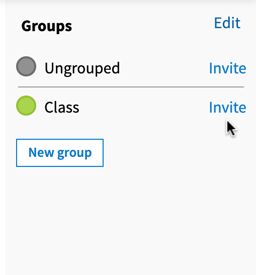 Invite link to the right of participant groups