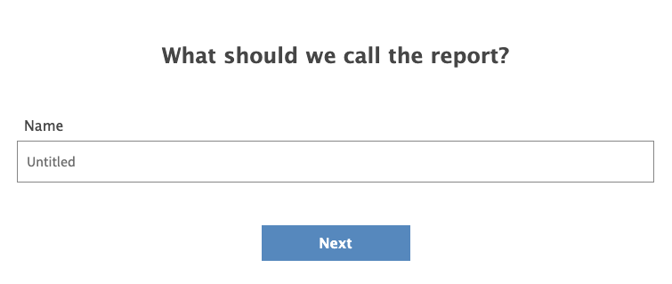 Enter a title for your report