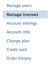 Manage licenses