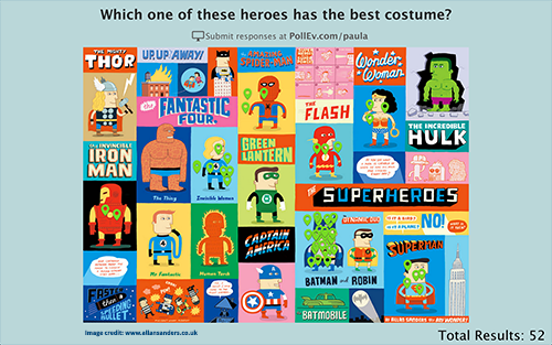Clickable Image Poll (Image credit: www.allansanders.co.uk/The-Superheroes)