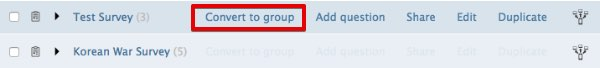 Convert to Group