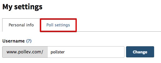 Select Poll settings