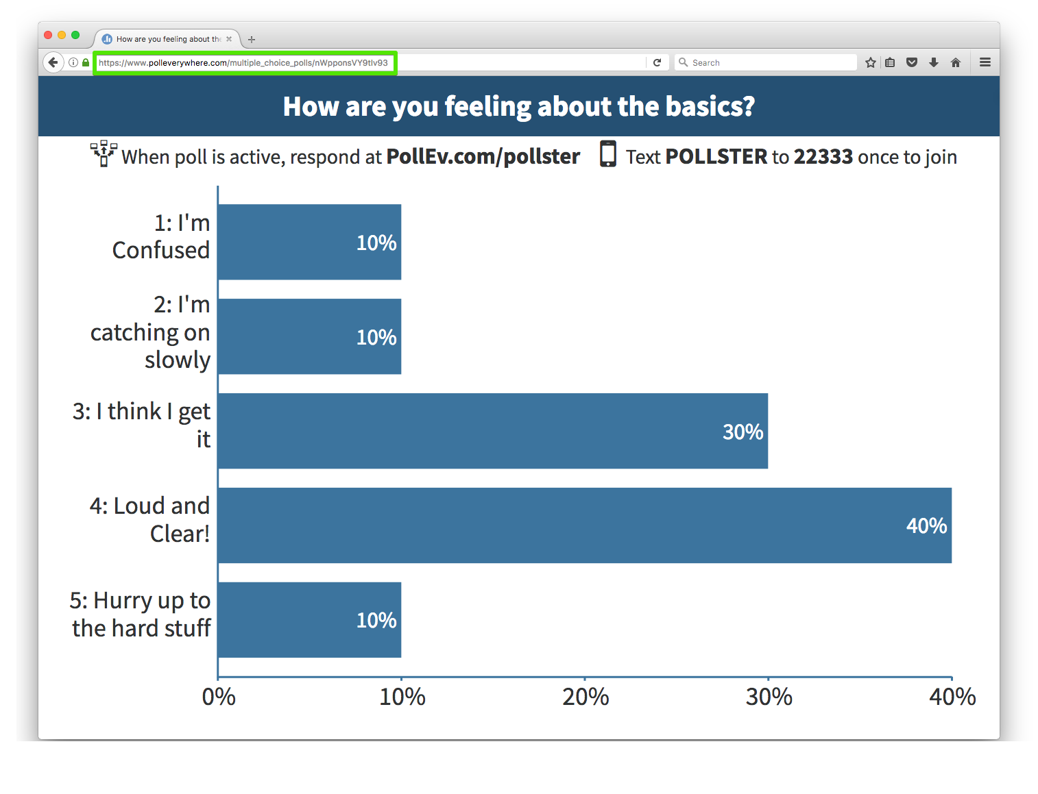 Live link to your poll audience view