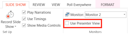 presenter view checkbox